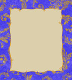 Gold Frame on a Background of Laurel Leaves Royalty Free Stock Photo