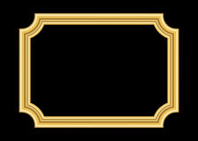 Gold frame. Beautiful golden black Royalty Free Stock Images