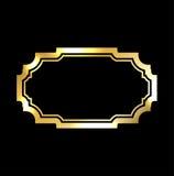 Gold frame Beautiful simple golden black design Royalty Free Stock Photos