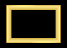 Gold frame. Beautiful simple golden black style Royalty Free Stock Photo