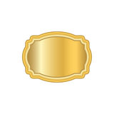 Gold frame. Beautiful simple golden design white Royalty Free Stock Image