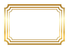 Gold frame. Beautiful simple golden style Royalty Free Stock Images