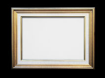 Gold frame on black royalty free stock photography