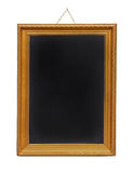 Gold frame blackboard Stock Photos