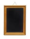 Gold frame blackboard stock photos