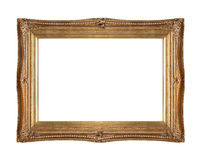 Gold frame carved royalty free stock images