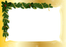 Gold frame for Christmas Royalty Free Stock Photos