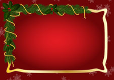 Gold frame for Christmas Royalty Free Stock Images