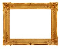 Gold frame with clipping path Stock Photography