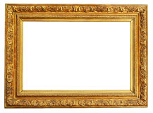 Gold frame clipping path Stock Photo