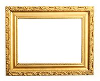Gold frame clipping path Stock Photography