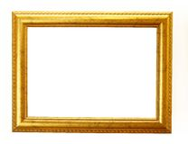 Gold frame clipping path Royalty Free Stock Images