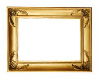Gold frame clipping path Stock Image
