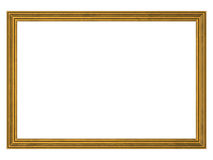 Gold frame with clipping path Royalty Free Stock Photo