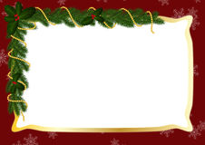 Gold frame for Cristmas Stock Images