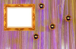 Gold frame on curtain wall Stock Images