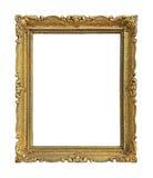 Gold frame decorative stock image