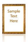 Gold frame with a decorative pattern Royalty Free Stock Photos