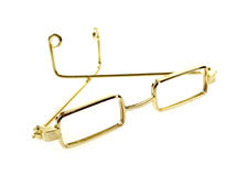 Gold Frame Doll Glasses Bows Folded Stock Photography