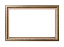 Gold frame Elegant vintage Isolated on white background Royalty Free Stock Photos