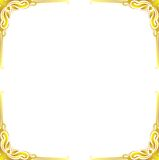 Gold frame floral abstract. Gold frame floral vector corner line art design from illustrator for picture photo or sticker cut and vinly design Royalty Free Stock Photos