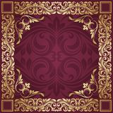 Gold frame. Floral border. Abstract flower beckground Stock Images