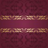 Gold frame. Floral border. Abstract flower beckground Royalty Free Stock Photo