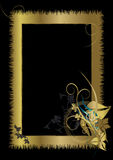 Gold Frame with Floral ornament Royalty Free Stock Photography