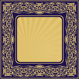 Gold frame with floral ornamental Stock Images