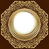 Gold frame with floral ornamental Royalty Free Stock Photos