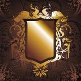 Gold frame flower 02 Stock Photo
