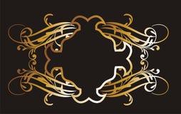 Gold frame flower Royalty Free Stock Image