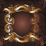 Gold frame flower 17 Royalty Free Stock Photos