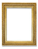 Gold frame. Gold gilded arts and crafts pattern picture frame Stock Photos