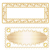 Gold frame and gold carpet design. Can be used by companies Royalty Free Stock Image