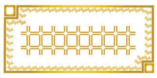 Gold frame and gold carpet design. Can be used by companies Stock Photo