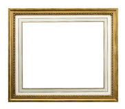 Gold frame with inner mount with 3 clipping paths Royalty Free Stock Photos
