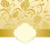 Gold frame invitation Stock Image