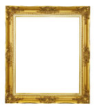 Gold frame isolated. Gold frame on white background Royalty Free Stock Image
