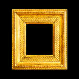 Gold frame isolated on black Stock Image