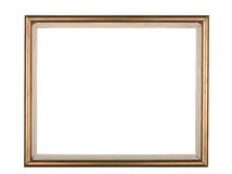 Gold frame isolated on a white background Royalty Free Stock Photography