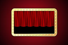 Gold frame with lamps. Royalty Free Stock Images