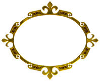 Gold frame in old style Royalty Free Stock Photography