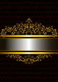 Gold frame in the old style with the frizzy forms Royalty Free Stock Photography