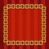 Gold frame with an ornament Royalty Free Stock Image