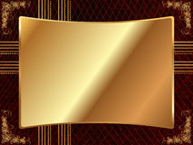 Gold frame with pattern 4 Royalty Free Stock Photography