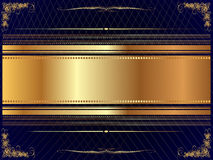Gold frame with pattern 8 Royalty Free Stock Photos