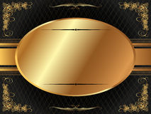 Gold frame with pattern 6 Royalty Free Stock Photography