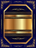 Gold frame with pattern 13 Royalty Free Stock Photography