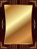 Gold frame with pattern 11 Stock Photos